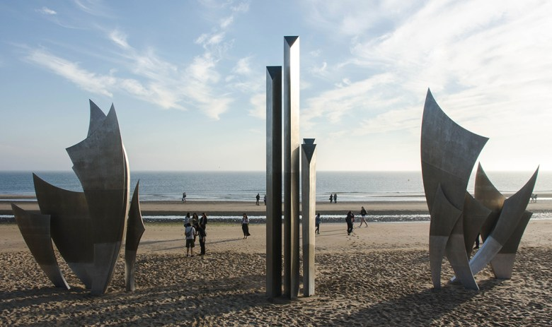 the brave monument on Omaha Beach Normandy