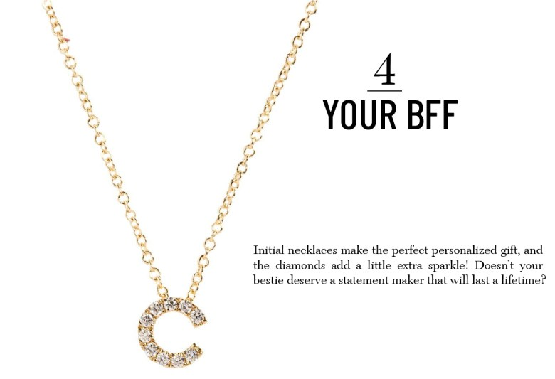 Bone Levy Pave Diamond Initial Necklace