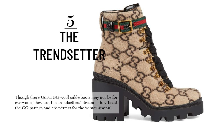Gucci wool ankle boot gift for women