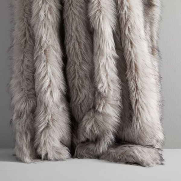 West elm faux fur luxury throw blankets