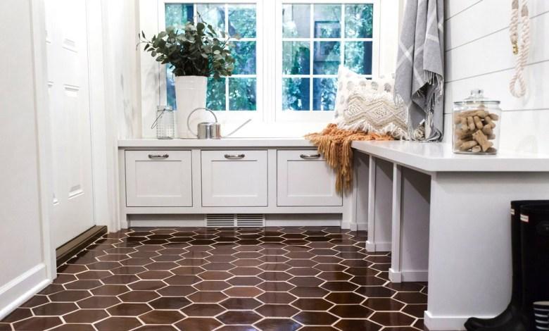 custom tile floor by Mercury Mosaics