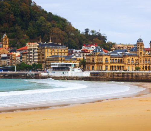 Beach in San Sebastian Spain