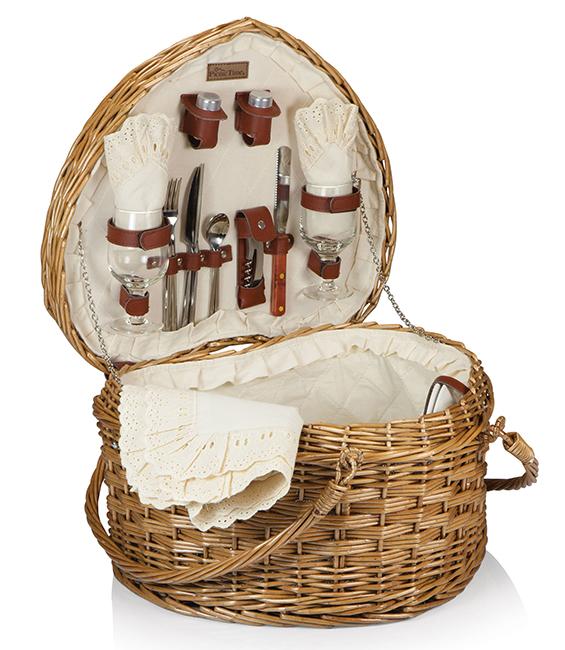 Best valentine gift heart picnic basket