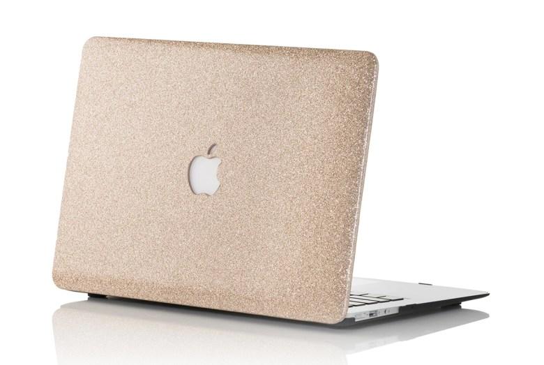 Champagne glitter MacBook case