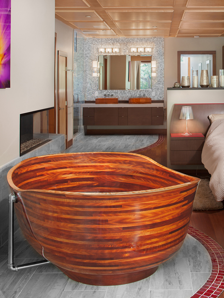 cool exotic wooden tubs by NK Tubs