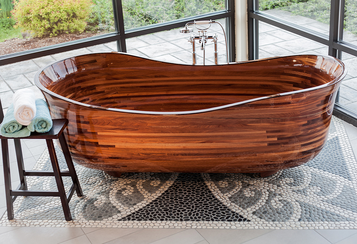 cool woodworking cutstom tubs