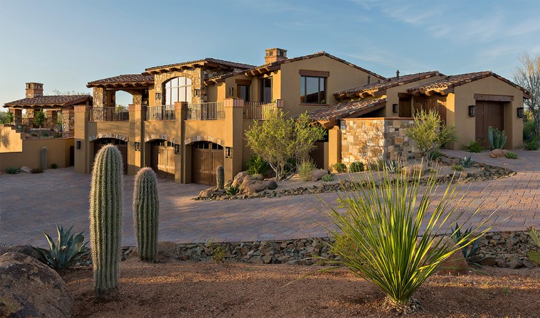 modern desert landscape residential