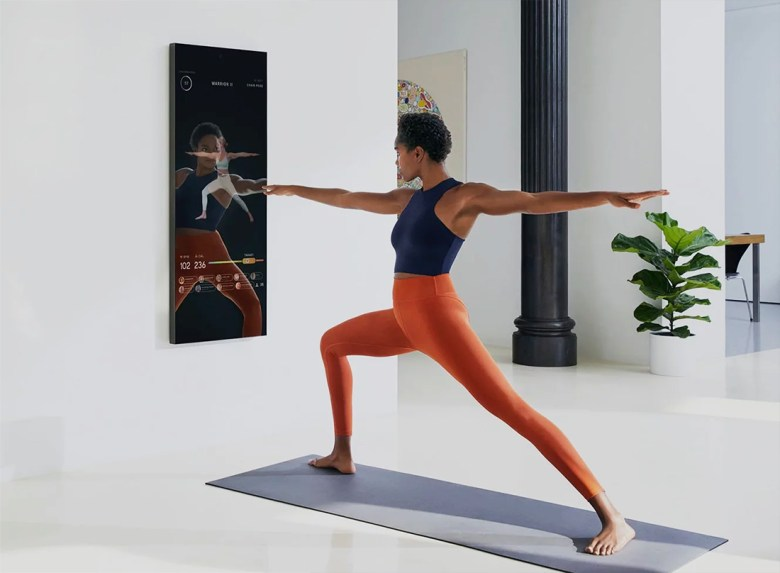 Mirror in luxury fitness room