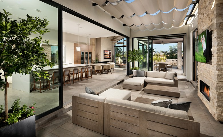outdoor living Shea Homes Azure community