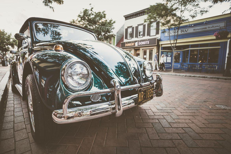 Green Volkswagen Type 1 Beetle