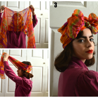 Alinnette's 5 (Extremely) Easy Ways to Style a 1940's Hair Scarf