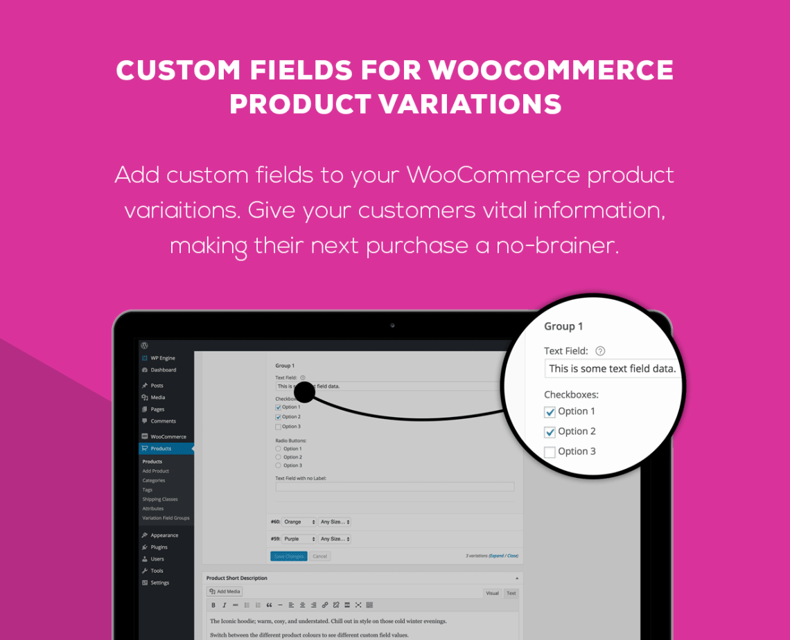 WooCommerce Custom Fields for Variations 1