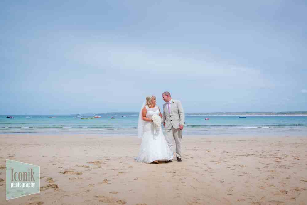 Wedding Photography in Cornwall - Porthminster Beach