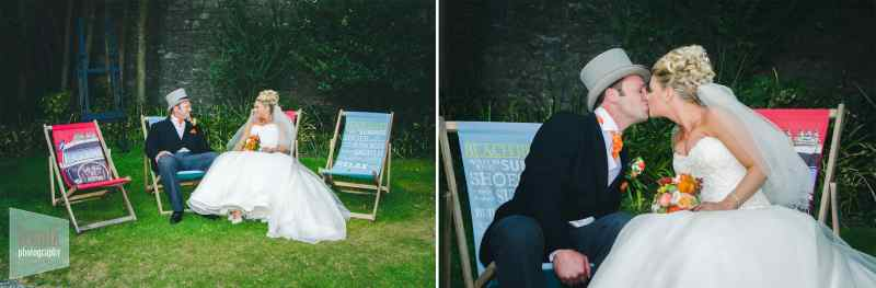 wedding photography deckchairs in plymouth