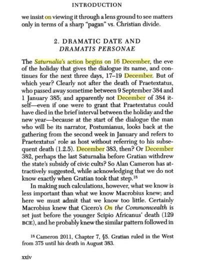 saturnalia 16 december macrobius