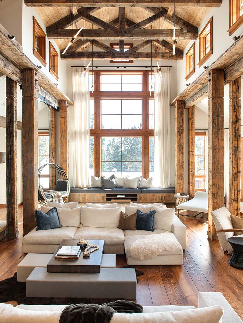 Living room area professionally designed