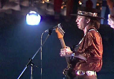Stevie Ray Vaughan at the Montreux Jazz Festival in 1982