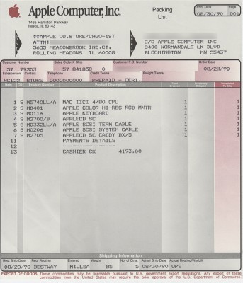 Apple_IIci_receipt_1990