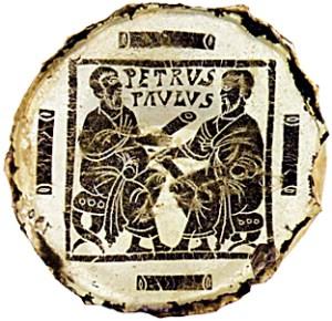 Icono de Pedro y Pablo Vaticano. Siglo  V.