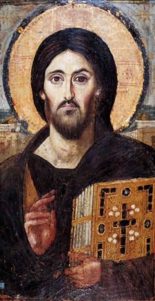 Il Salvatore (Pantokrator) del Sinai Monastero Santa Caterina del Sinai. iconecristiane.it