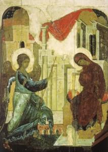 Anunciación del Señor. Andrei Rublev