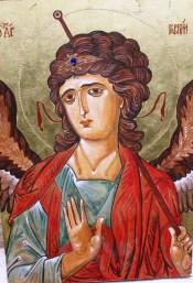 San Gabriel Ancángel. Icono pintado por P. Jaime Martinez Spezza IVE