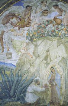 La  Virgen sale al encuentro de Juan Diego. Centro de Estudios Guadalupanos UPAE