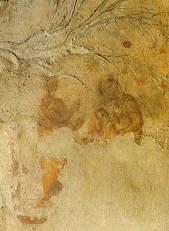 La imagen más antigua de la Virgen con el Niño y profeta Balaan  (probable), señala estrella. C. Sta. Priscila. Siglo II