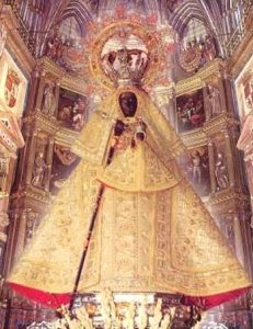 Santuario de la Virgen de Guadalupe, Cáceres, España. Aquí se venera a la Virgen mucho antes que se apareciera en México. A Ella acudió Sta. Teresa para pedir por sus hermanos.