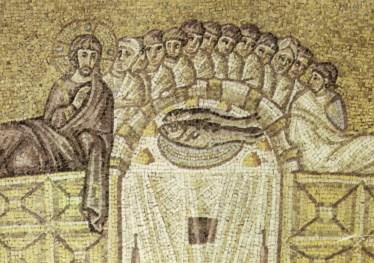 Ravenna,_sant'apollinare_nuovo_ultima_cena_(inizio_del_VI_secolo)
