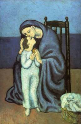 Picasso, Mother and child.