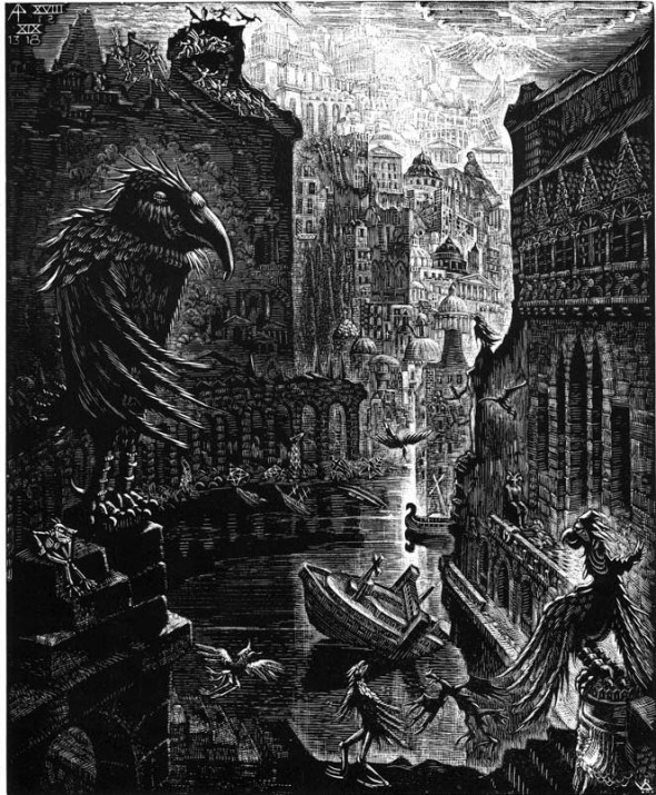 VICTOR DELHEZ. Babilonia presa de demonios y espíritus inmundos. XVIII, 1-2. 4