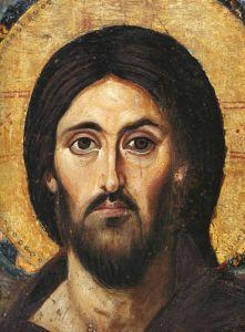 04 b. Cristo benedicente, particular. Icona a encausto. Sinai, VI sec.