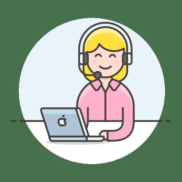 Customer service woman Icon   Streamline UX Free Iconset ...
