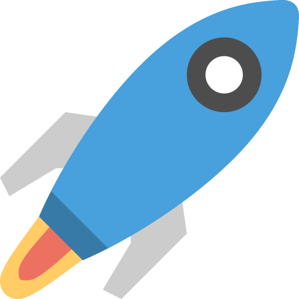 Space rocket Icon Flat Free Sample Iconset Squid Ink