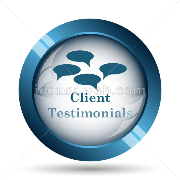 Client testimonials icon. Client testimonials website button. - Icons for your website