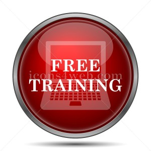 Free training icon. Free training internet button on white background. - icons4web