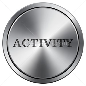 Activity icon. Round icon imitating metal. - Icons for your website