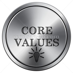 Core values icon. Round icon imitating metal. - Icons for your website