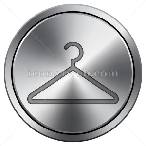 Hanger icon. Round icon imitating metal. - Icons for your website
