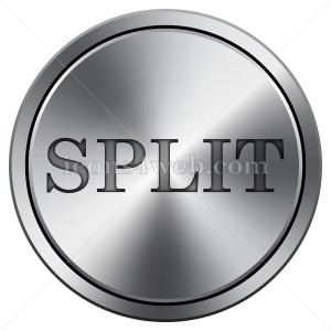 Split icon. Round icon imitating metal. - Icons for your website