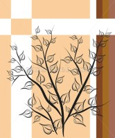Japanese background vector. Japanese digital painting on colored background - Buy Icons for your website