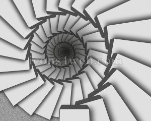 Spiral staircase illustration. Infinity staircase design - Icons for your website