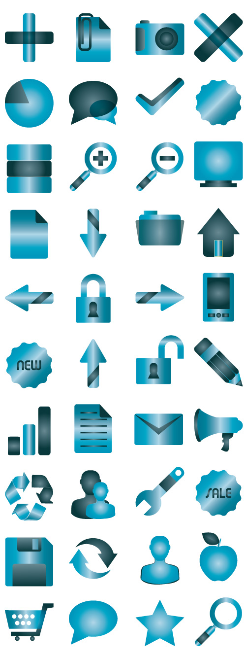 Blue SimpleShots Icon Collection by Iconshots.com