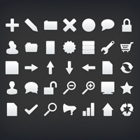 Black and White Icon Collection