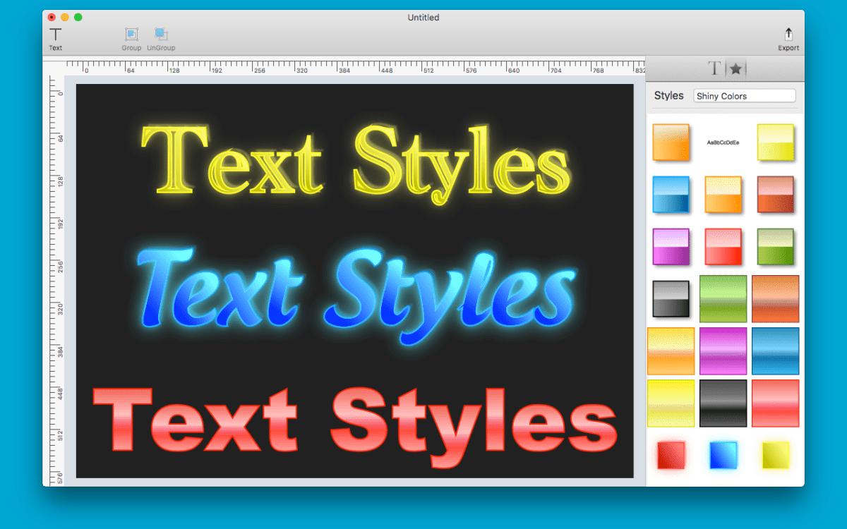 Text Styles Screenshot