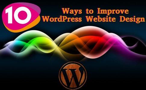 ways to improve wordpress website design