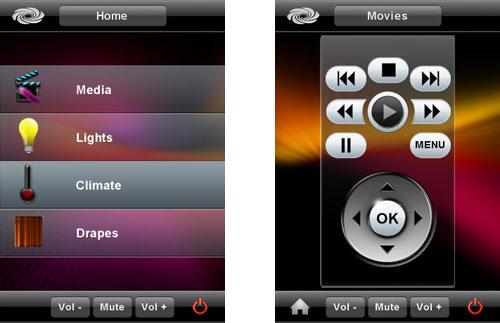 Crestron iPhone App Screenshot 1