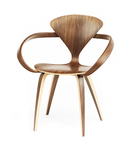 Norman Cherner Molded Plywood Armchair