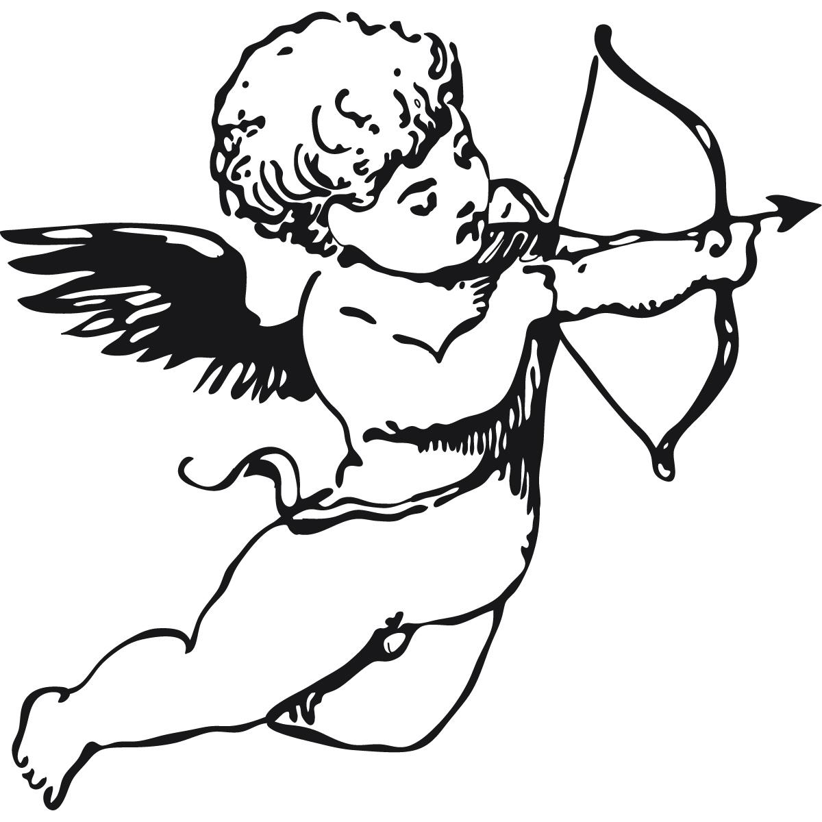 Cherub Angel Bow And Arrow Wall Sticker Wall Art Decal
